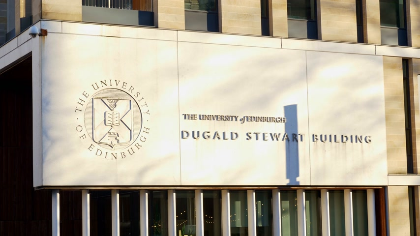 ilgi yeri : University of Edinburgh - Dugald Stewart Building - EDINBURGH, SCOTLAND - JANUARY 10, 2020
