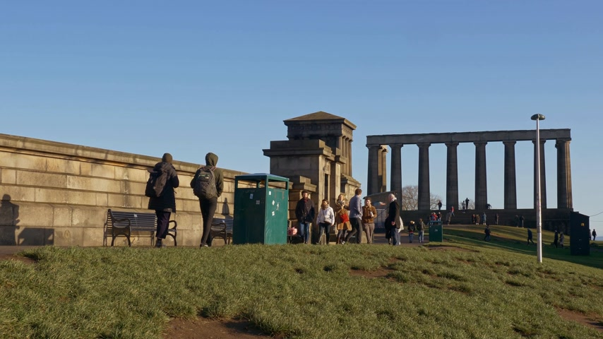ilgi yeri : National Monument on Calton Hill Edinburgh - EDINBURGH, SCOTLAND - JANUARY 10, 2020