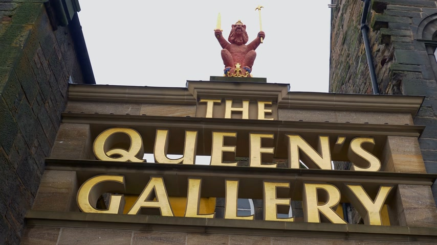 ilgi yeri : Queens Gallery at Palace of Holyroodhouse in Edinburgh - EDINBURGH, SCOTLAND - JANUARY 10, 2020