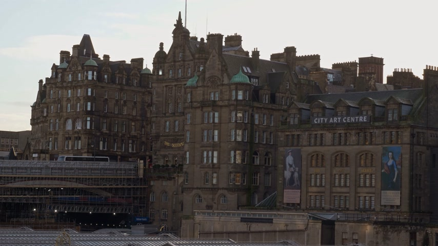 built structure : City Art Centre at Old Town Edinburgh - EDINBURGH, SCOTLAND - JANUARY 10, 2020