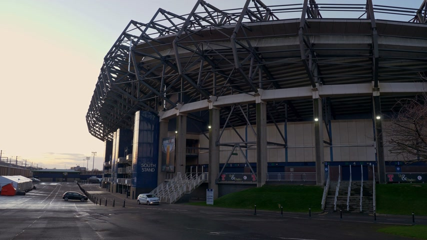 local de interesse : Murrayfield stadium in Edinburgh - home of rugby and football - EDINBURGH, SCOTLAND - JANUARY 10, 2020