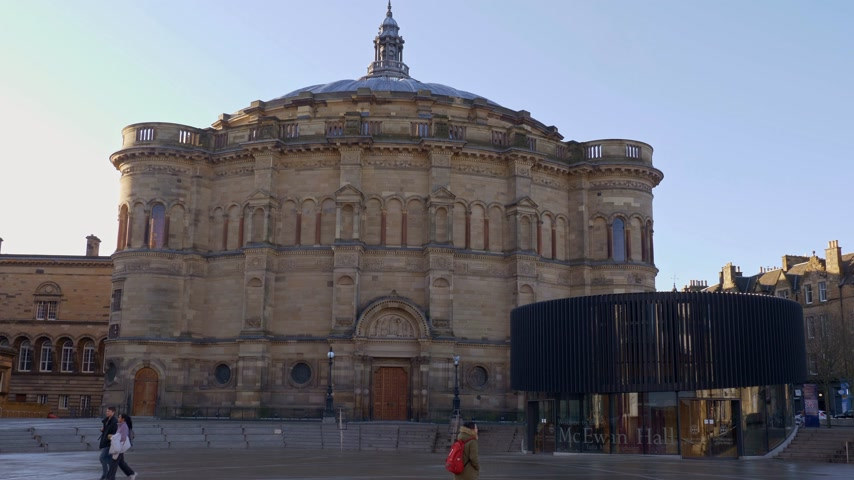 aula magna : University of Edinburgh - McEwan Hall - EDINBURGH, SCOTLAND - JANUARY 10, 2020 Filmati Stock