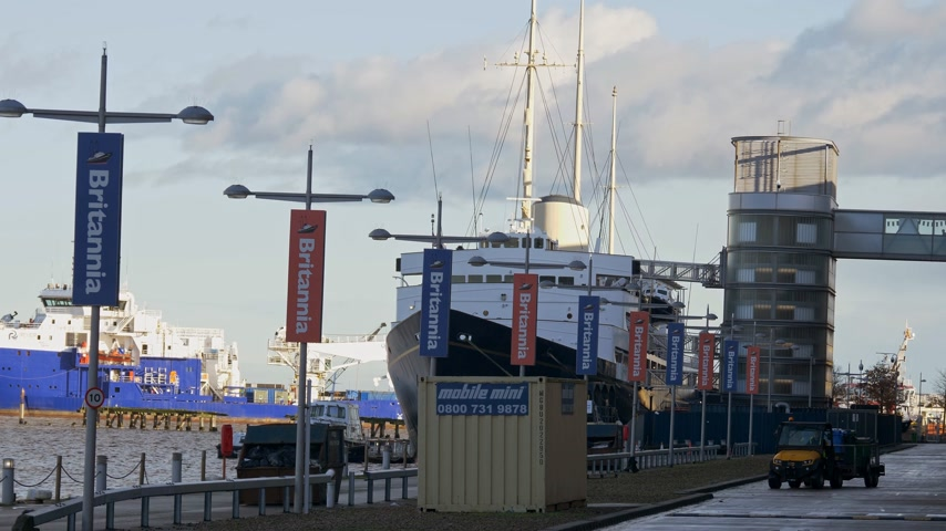 İskoçyalı : Royal Yacht Britannia in Edinburgh - EDINBURGH, SCOTLAND - JANUARY 10, 2020