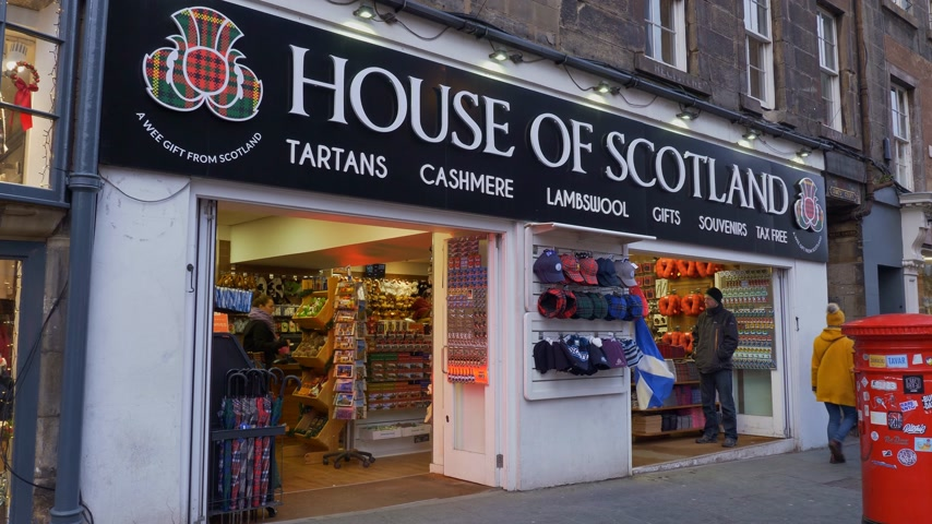 local de interesse : House of Scotland souvenir shop - EDINBURGH, SCOTLAND - JANUARY 10, 2020