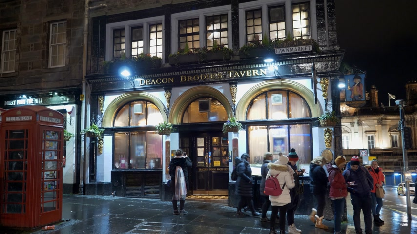 ilgi yeri : Deacon Brodies Tavern at Edinburgh Royal Mile - EDINBURGH, SCOTLAND - JANUARY 10, 2020