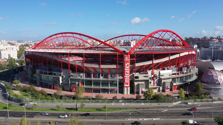 portugál : Amazing architecture of Benfica Lisbon soccer stadium Estadio da Luz - CITY OF LISBON, PORTUGAL - NOVEMBER 5, 2019