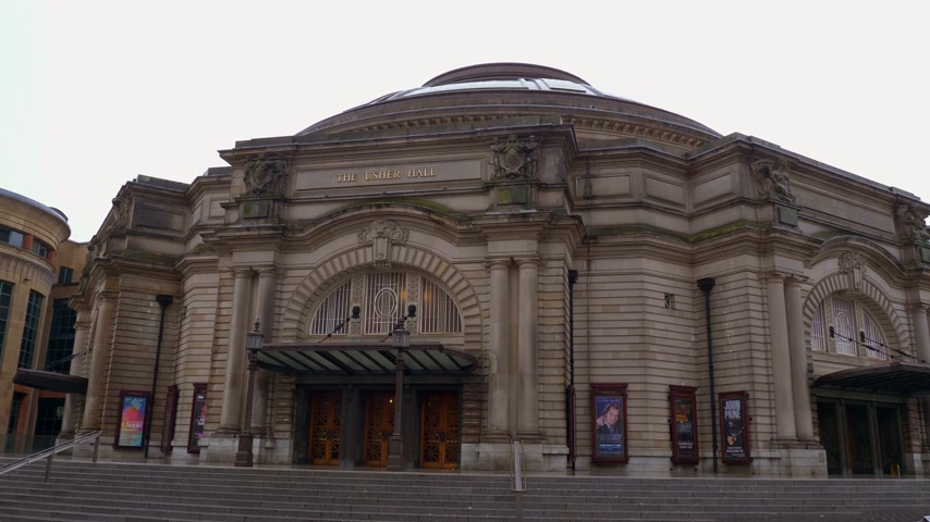 시청 : Usher Hall is a famous venue in Edinburgh - EDINBURGH, SCOTLAND - JANUARY 10, 2020 무비클립