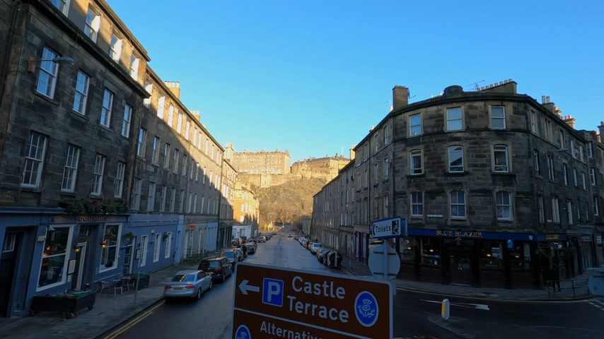 local de interesse : Cityscapes of Edinburgh the capital city of Scotland - EDINBURGH, UNITED KINGDOM - JANUARY 11, 2020