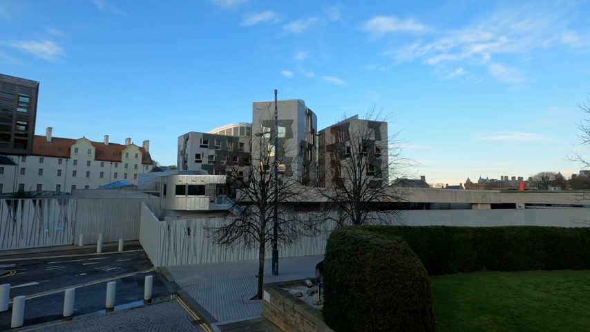 local de interesse : Scottish Parliament Building in Edinburgh - EDINBURGH, UNITED KINGDOM - JANUARY 11, 2020