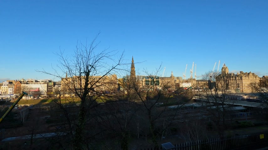 národní památka : Cityscapes of Edinburgh the capital city of Scotland - EDINBURGH, UNITED KINGDOM - JANUARY 11, 2020