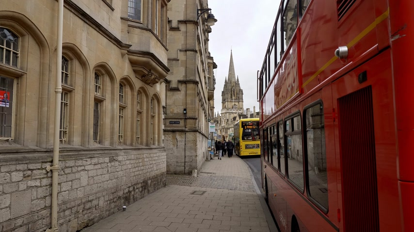oxfordshire : Public Transport in Oxford England - OXFORD, ENGLAND - JANUARY 3, 2020