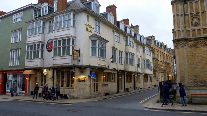 oxfordshire : Eastgate Hotel in Oxford England - OXFORD, ENGLAND - JANUARY 3, 2020