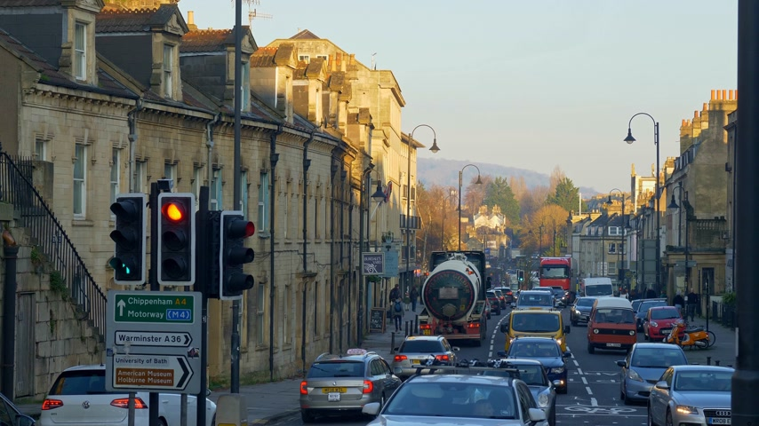 grúz : Cityscapes of Bath England - BATH, ENGLAND - DECEMBER 30, 2019