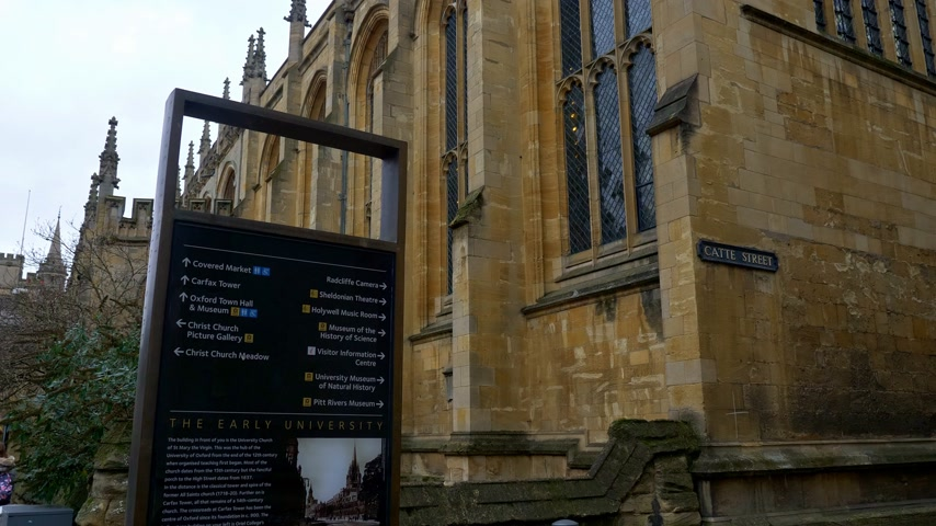 oxfordshire : The Early University in Oxford England - OXFORD, ENGLAND - JANUARY 3, 2020