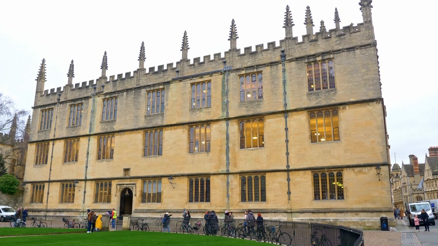 ニューイングランド : Bodleian Library in Oxford England - OXFORD, ENGLAND - JANUARY 3, 2020