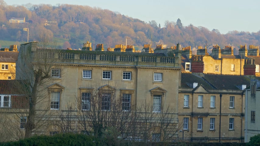 dünya mirası : Cityscapes of Bath England - BATH, ENGLAND - DECEMBER 30, 2019