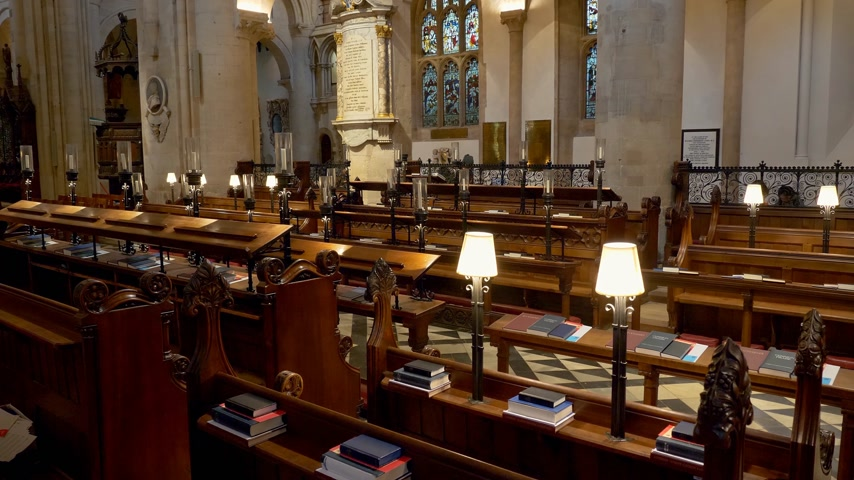 часовня : Christ Church Cathedral in Oxford - OXFORD, ENGLAND - JANUARY 3, 2020