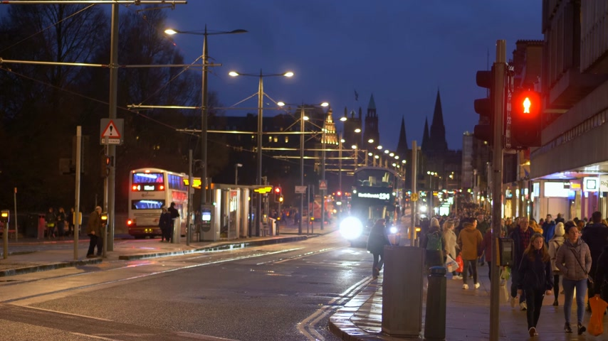 great britain : Cityscapes of Edinburgh Scotland - EDINBURGH, SCOTLAND - JANUARY 10, 2020 Stock Footage