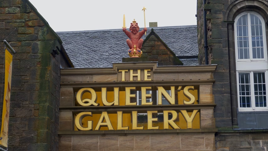 Queens Gallery at Palace of Holyroodhouse in Edinburgh - EDINBURGH, SCOTLAND - JANUARY 10, 2020