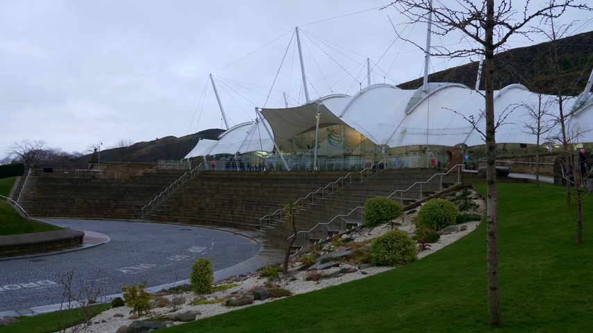 Famous Dynamic Earth Exhibition in Edinburgh - EDINBURGH, SCOTLAND - JANUARY 10, 2020
