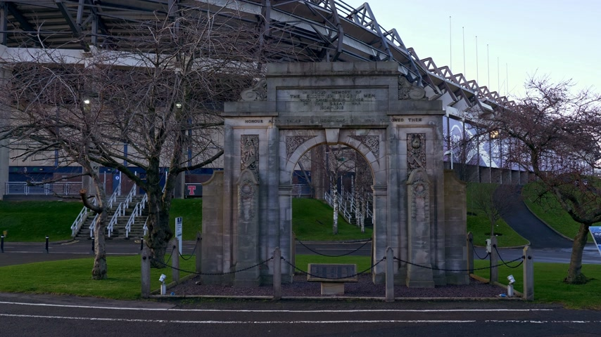 Murrayfield stadium in Edinburgh - home of rugby and football - EDINBURGH, SCOTLAND - JANUARY 10, 2020