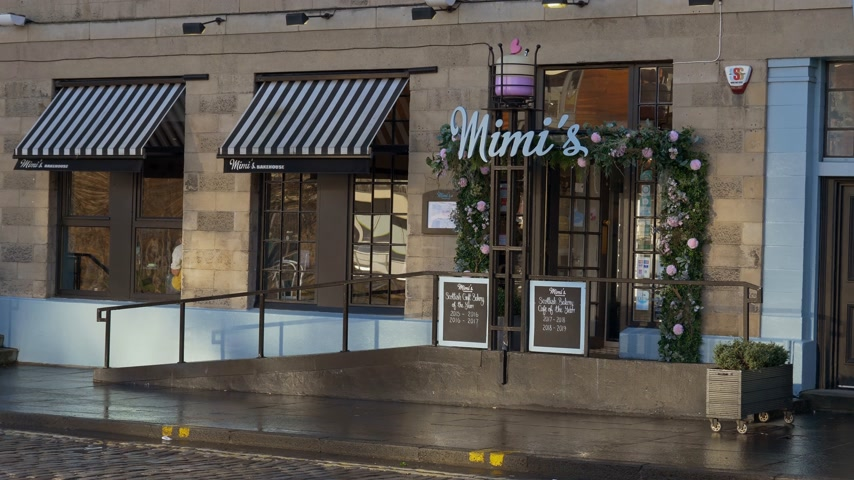 Mimis Bakehouse in Edinburgh Leith - EDINBURGH, SCOTLAND - JANUARY 10, 2020