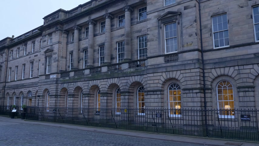 Lothian Regional Chambers in Edinburgh - EDINBURGH, SCOTLAND - JANUARY 10, 2020 Stock Footage