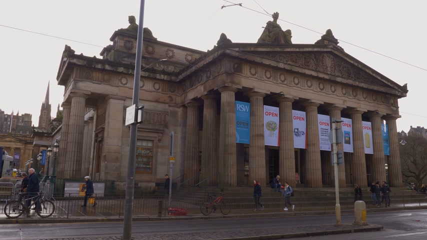built : Royal Scottish Academy in Edinburgh - EDINBURGH, SCOTLAND - JANUARY 10, 2020