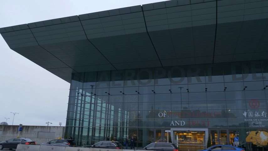 Airport of Luxemburg Terminal building - CITY OF LUXEMBURG, LUXEMBURG - JANUARY 10, 2020