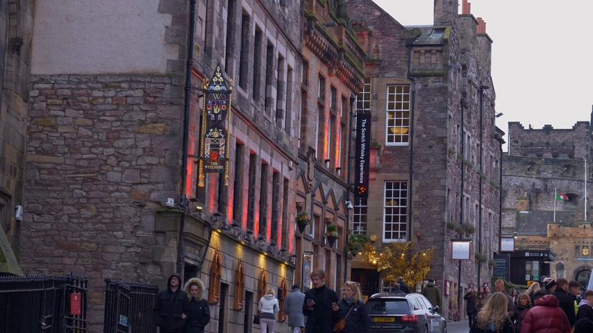 The Scotch Whisky Experience in Castlehill in Edinburgh - EDINBURGH, SCHOTLAND - 10 JANUARI 2020