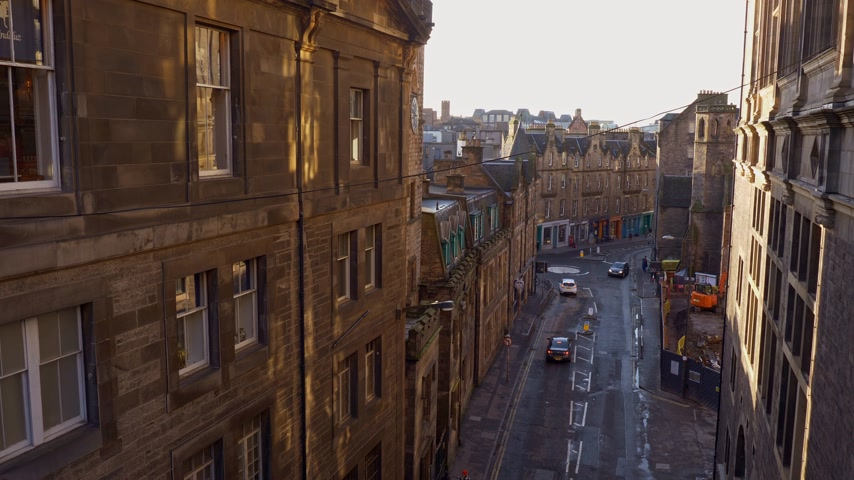 ilgi yeri : Cityscapes of Edinburgh Scotland - EDINBURGH, SCOTLAND - JANUARY 10, 2020 Stok Video