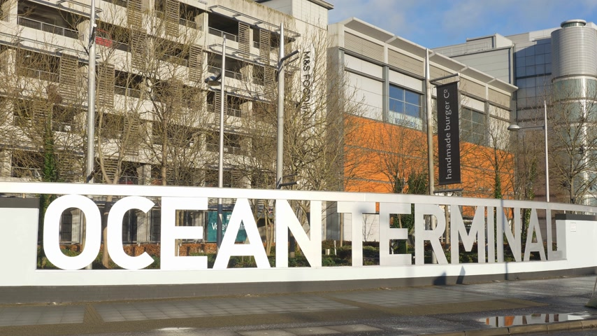 Ocean Terminal in Edinburgh Leith - EDINBURGH, SCHOTLAND - 10 JANUARI 2020