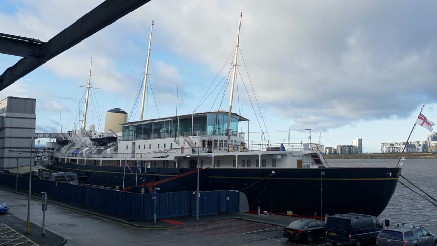 Royal Yacht Britannia in Edinburgh - EDINBURGH, SCOTLAND - JANUARY 10, 2020