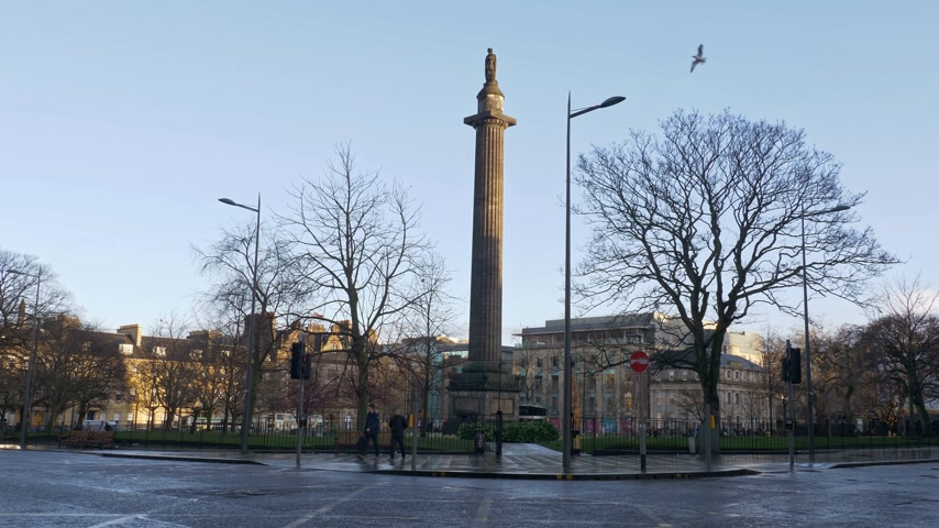 St Andrew Square in Edinburgh - EDINBURGH, SCOTLAND - JANUARY 10, 2020