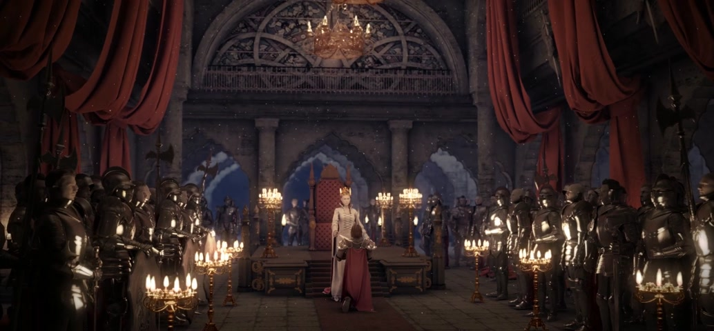 kolumna : Throne room inauguration 3d rendering Wideo