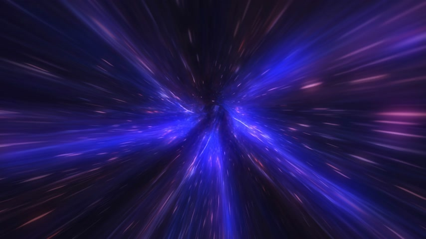 4k motion design. Looped seamless 3d animation of a flight through a light space tunnel.