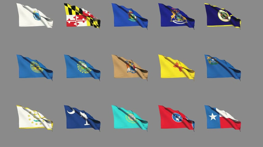 rhode : Flags of the 50 US states - Part 3 of 4