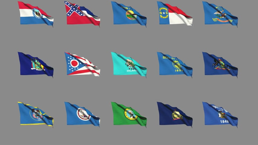 nebraska : Flags of the 50 US states - Part 4 of 4