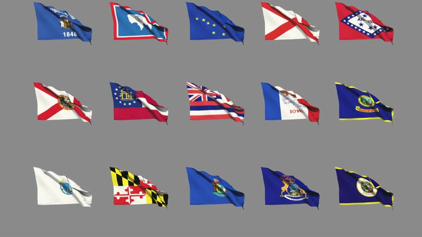 rhode : Flags of the 50 US states - Part 1 of 4