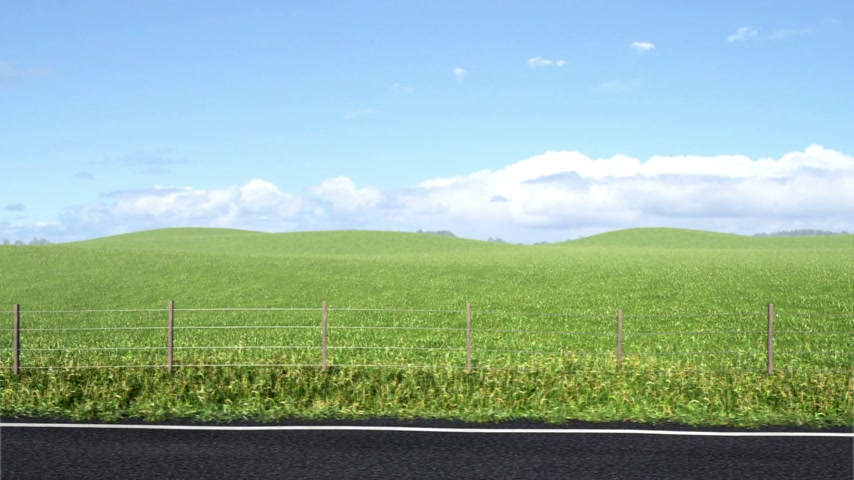 viagem por estrada : Side of the Road, Semless Loop Stock Footage