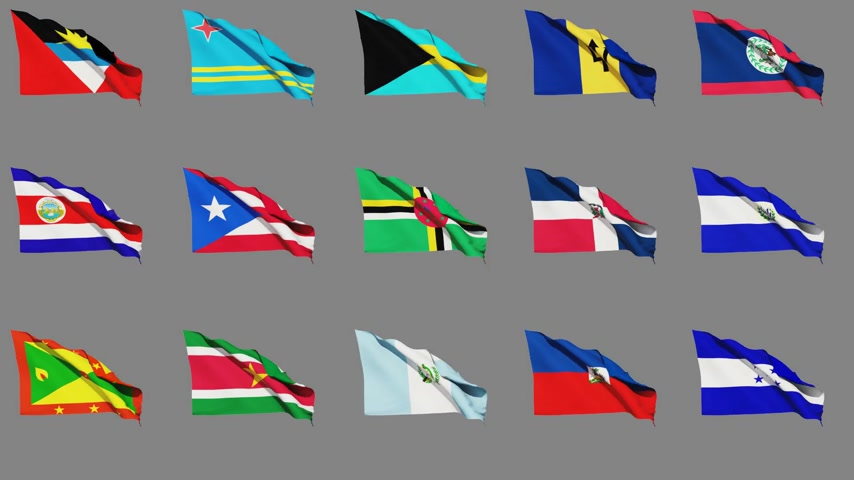 américa central : Flags of Central America Countries (part 1 of 2) Vídeos