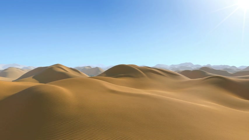 vaha : Oasis in the Desert. Camera Flying until it find the oasis, Stok Video