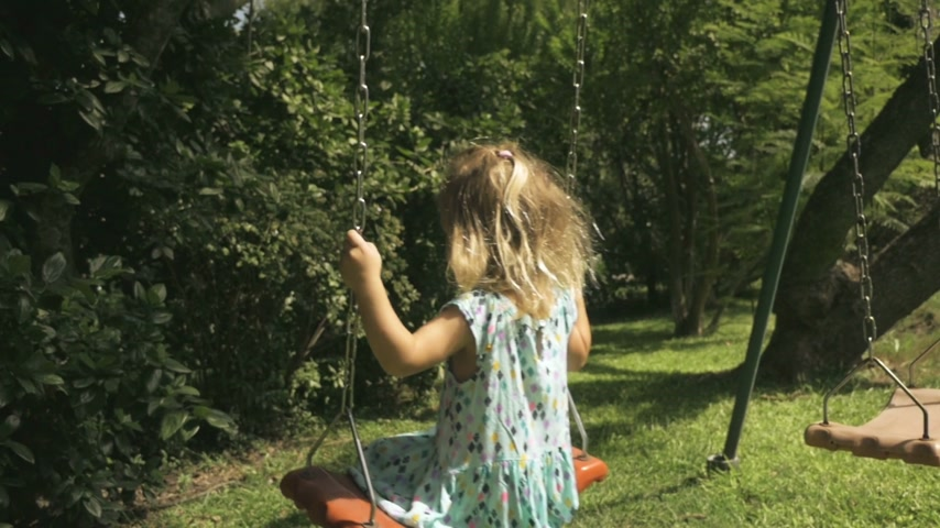 Little Girl Swinging 2