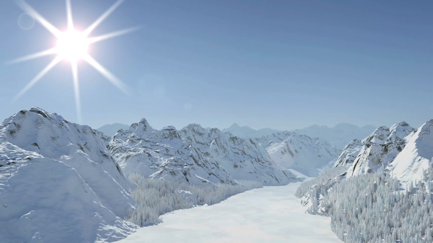 Mountains Drying Out (3D Rendering)