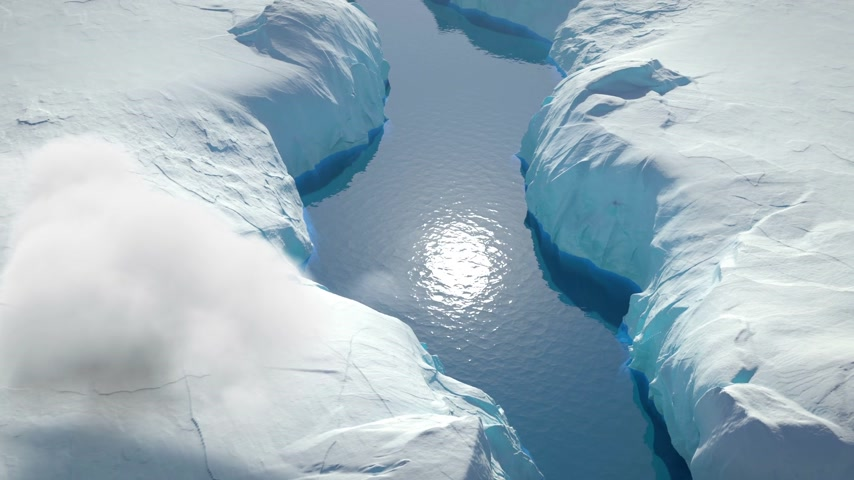 Glaciers Aerial View Wideo