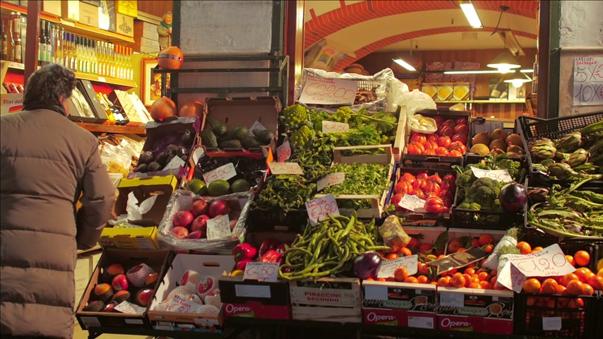stragan : Produce Market in Italy Wideo