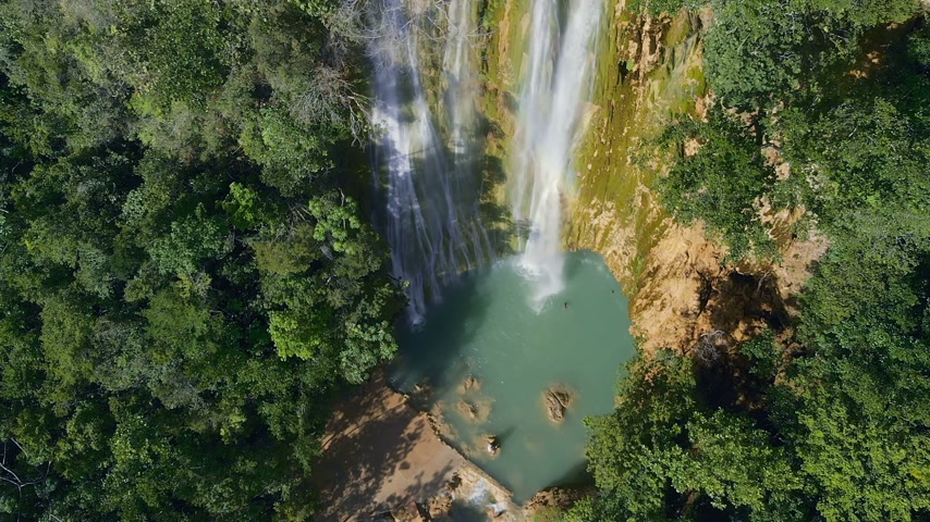 limon : El Limon Falls Dominican Republic Stock Footage