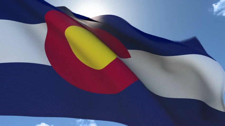 Flag of Colorado Waving in the Wind Wideo