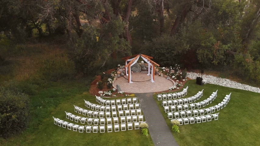 Wedding Altar Aerial Shot