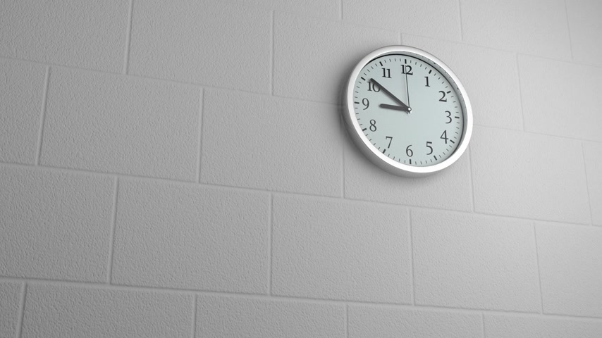 Wall Clock Fast Moving Wideo